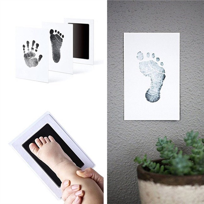 Baby Hand en Voetafdruk Kit / Inkt-Zwart