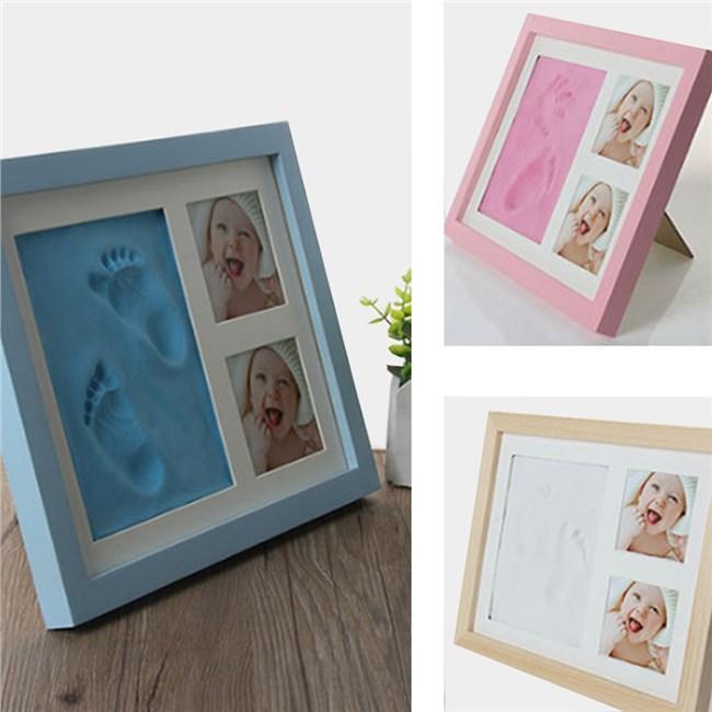 Baby Hand en Voetafdruk - Klei Kit Fotolijst / Wit