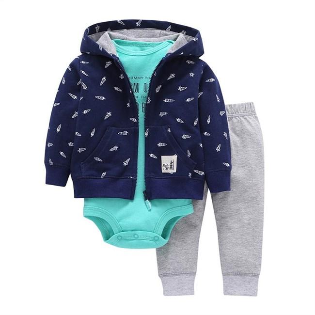 Babysetje | Blauw/Grijs - 3 tot 6 Maanden