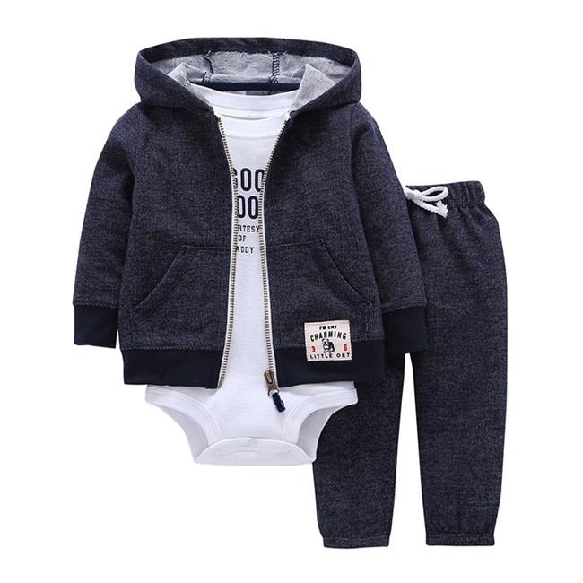 Babysetje | Donkerblauw/Wit - 3 tot 6 Maanden