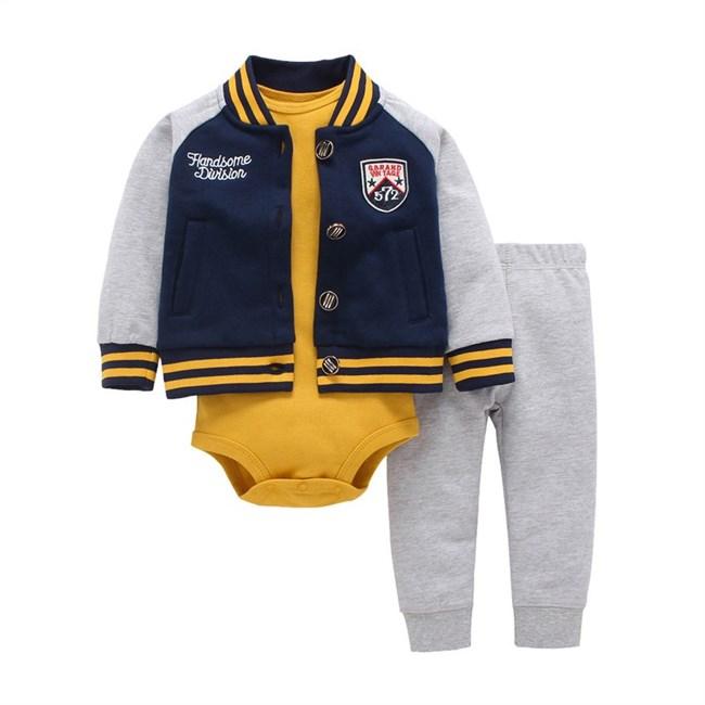 Babysetje | Grijs/Geel - 3 tot 6 Maanden