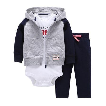 Babysetje | Grijs/Blauw - 3 tot 6 Maanden