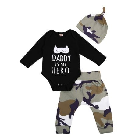 Babysetje | Daddy is my Hero - 6 tot 12 Maanden