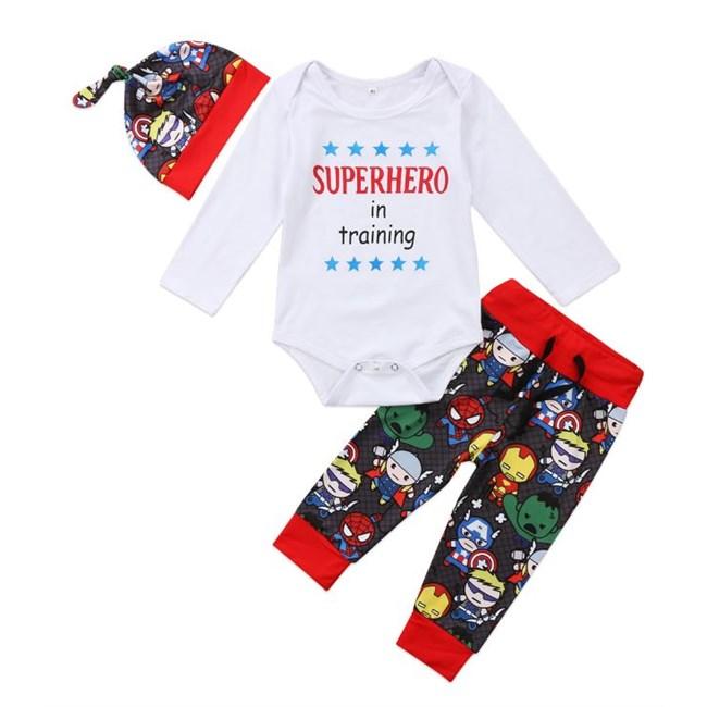 Babysetje | Superhero in training - 6 tot 12 maanden