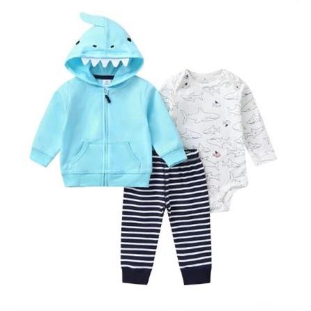 Babysetje | Lichtblauw/Wit - 3 tot 6 Maanden