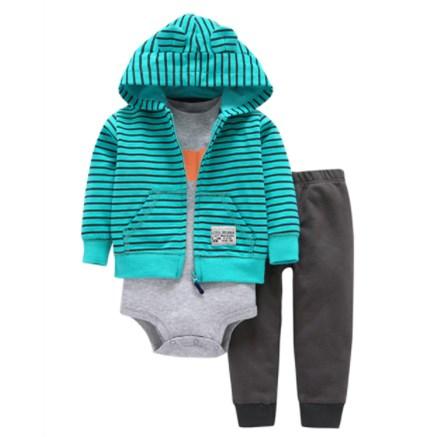 Babysetje | Lichtblauw/Grijs- 3 tot 6 Maanden
