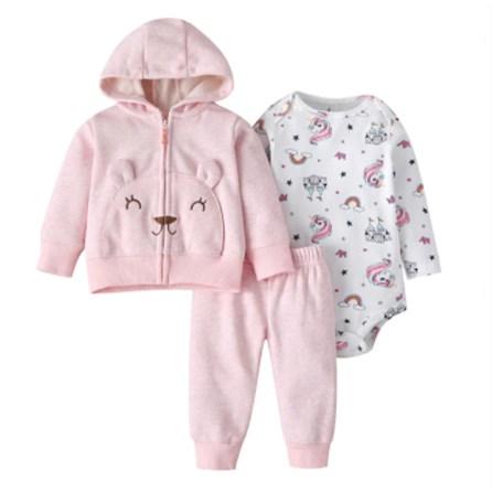 Babysetje | Roze/Wit- 3 tot 6 Maanden