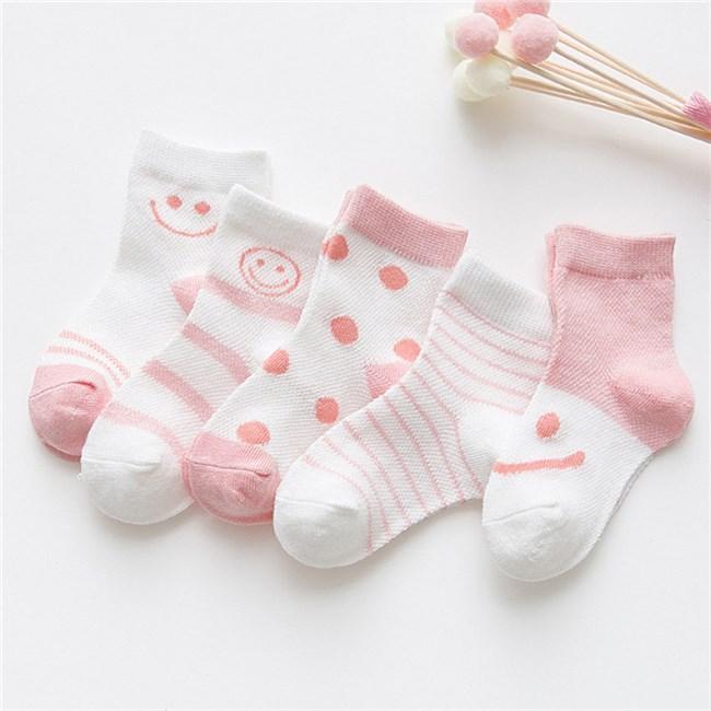Roze Babykleding.Babysokken 5 Paar Roze Babykleding Sokjes