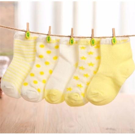 Babysokken | 5 paar - Geel