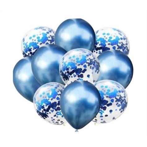 Geboorte Ballonnen Donkerblauw - 10 Stuks