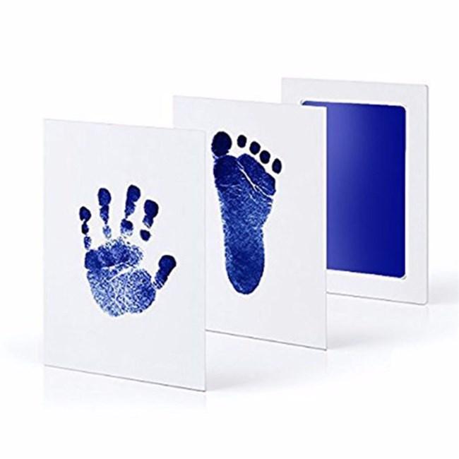 Baby Hand en Voetafdruk Kit / Inkt-Blauw
