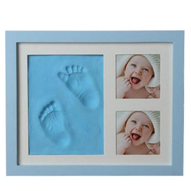 Baby Hand en Voetafdruk - Klei Kit Fotolijst / Blauw