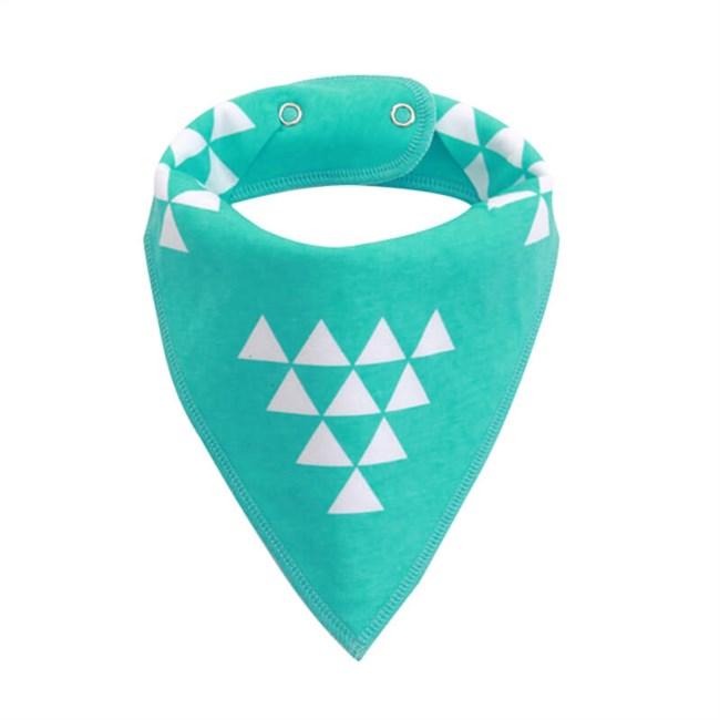 Moderne Slabber Driehoek - Lichtblauw/Wit