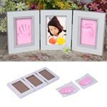 Baby Hand en Voetafdruk - Klei Kit Fotolijst / Roze